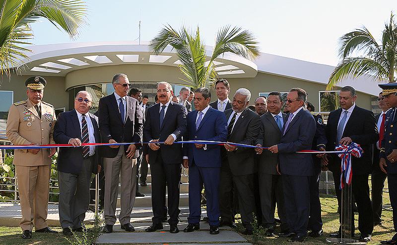 Danilo Medina inaugura el nuevo Helipuerto de Santo Domingo
