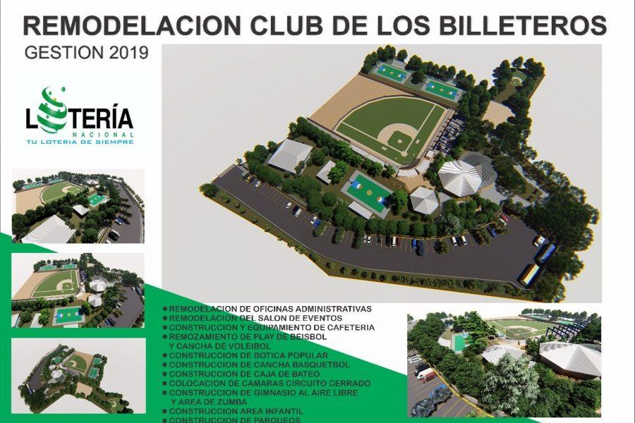 Lotería Nacional inicia trabajos de remodelación del Club de los Billeteros