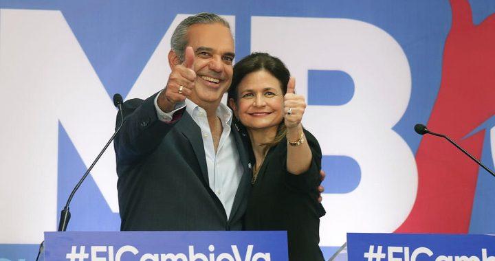Luis Abinader presenta a Raquel Peña como su compañera de boleta