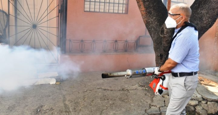 Joselito realiza operativo de fumigación