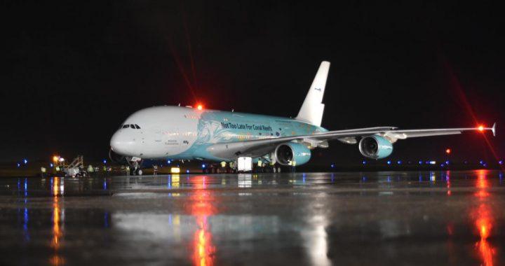 El avión de pasajeros más grande del mundo aterriza en República Dominicana