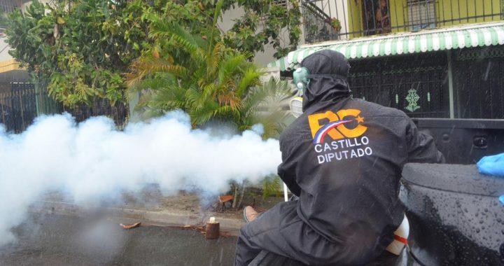 Rafael Castillo realiza operativos de limpieza y fumigación