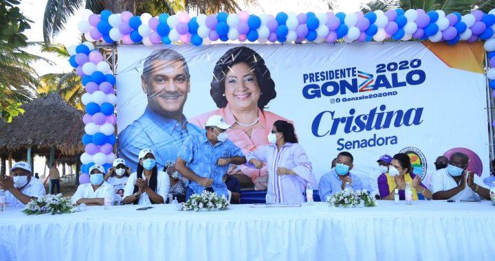Gonzalo Castillo y Cristina Lizardo reciben apoyo de distintos sectores