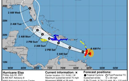 Elsa deja dos víctimas mortales a su paso al sur de República Dominicana